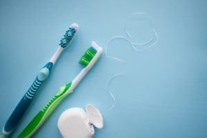 toothbrushes and floss